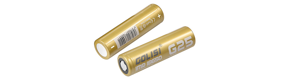 2pcs Golisi G25 IMR 18650 2500mAh High-drain Battery - 25A