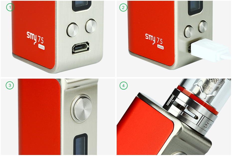 SMY 75W TC Mini Starter Kit W / O Battery