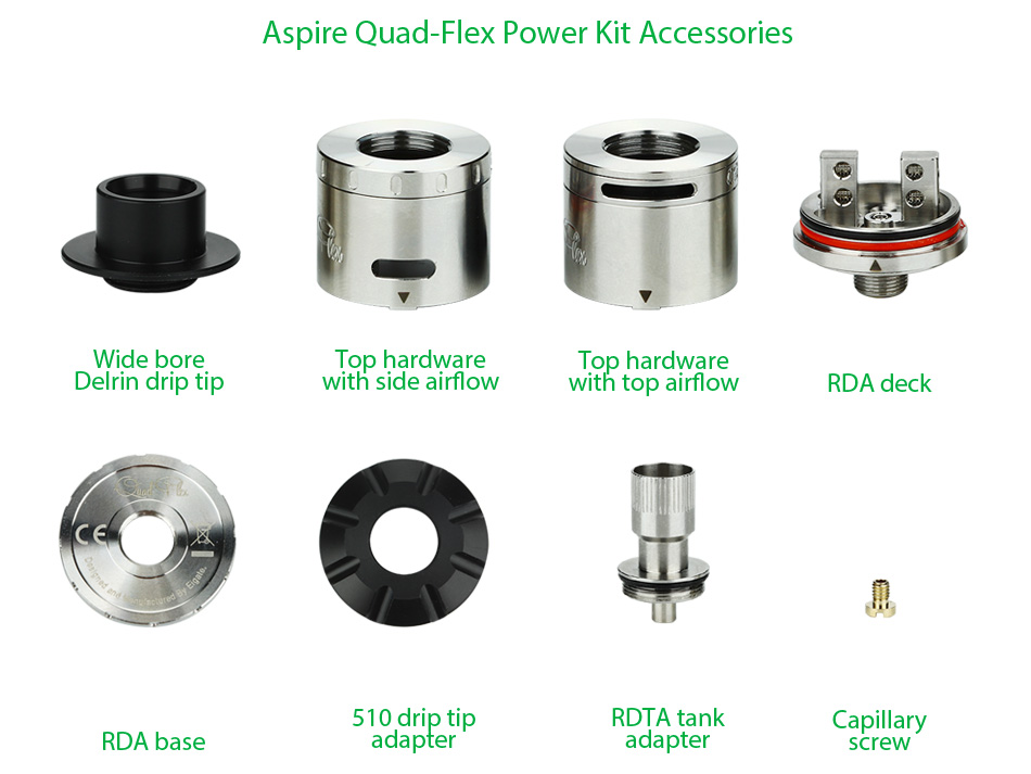 Aspire Quad-Flex Power Pack - Silver