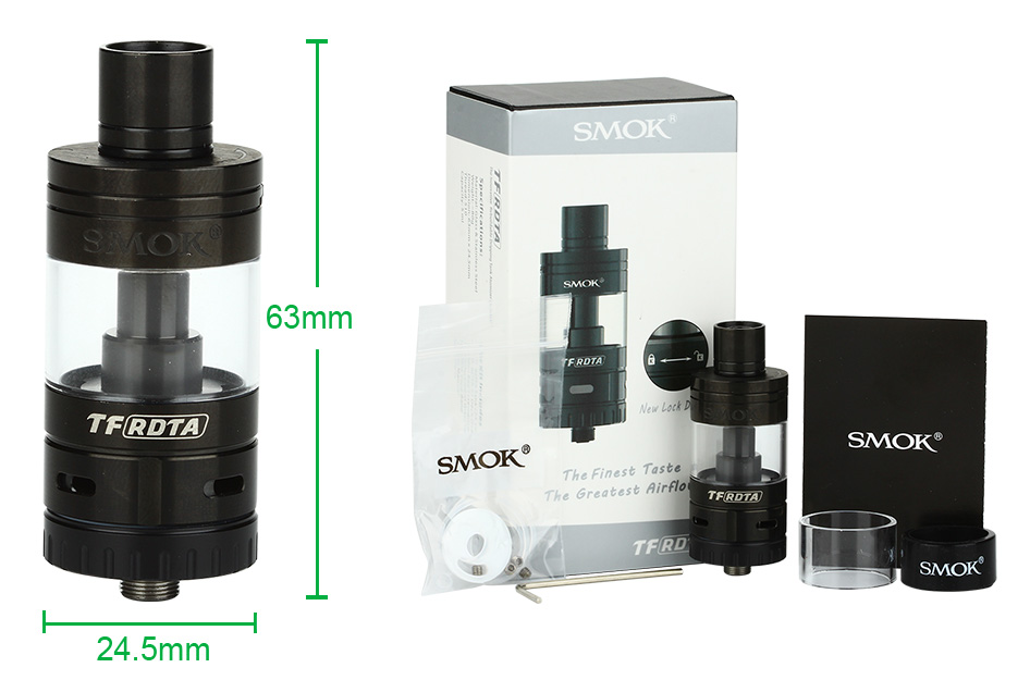 SMOK TF-RDTA Tank - 5ml, Black
