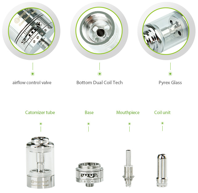 Kangertech Genitank Mega Cartomizer with New Airflow Control Valve- 3.8ml