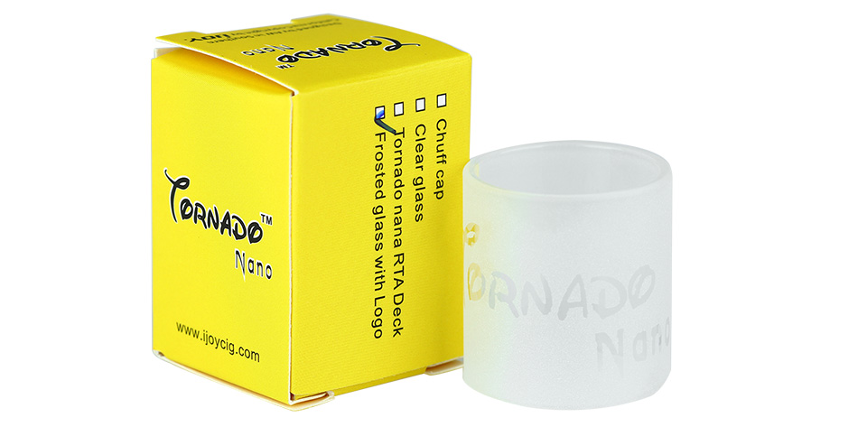 IJOY Tornado Nano Frosted Glass Tube With Logo