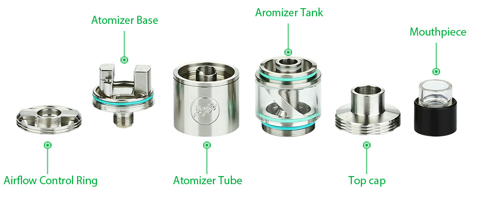 WISMEC Cylin RTA Atomizer Kit - 3.5ml