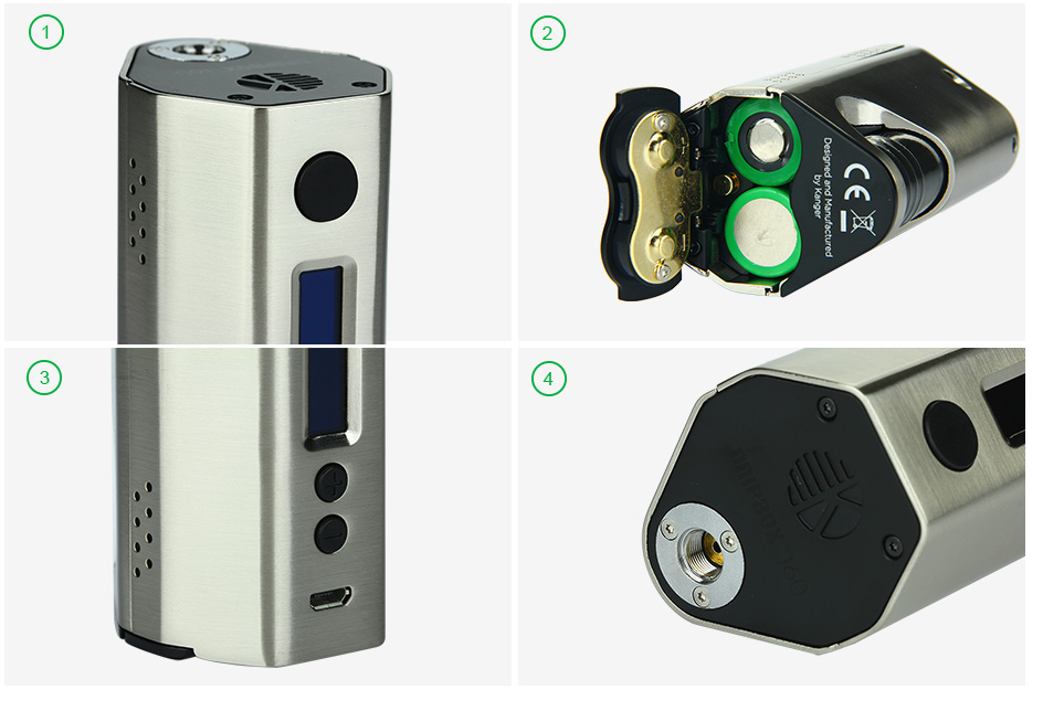 160W Kangertech Dripbox TC Starter Kit W/O Battery