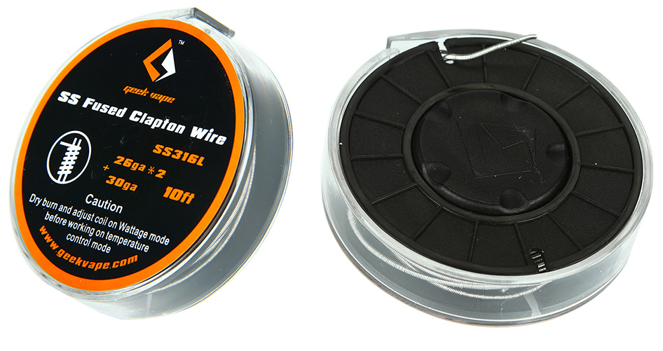 10ft GeekVape Fused Clapton SS316 Tape Wire (26GA*2/Paralleled + 30GA)