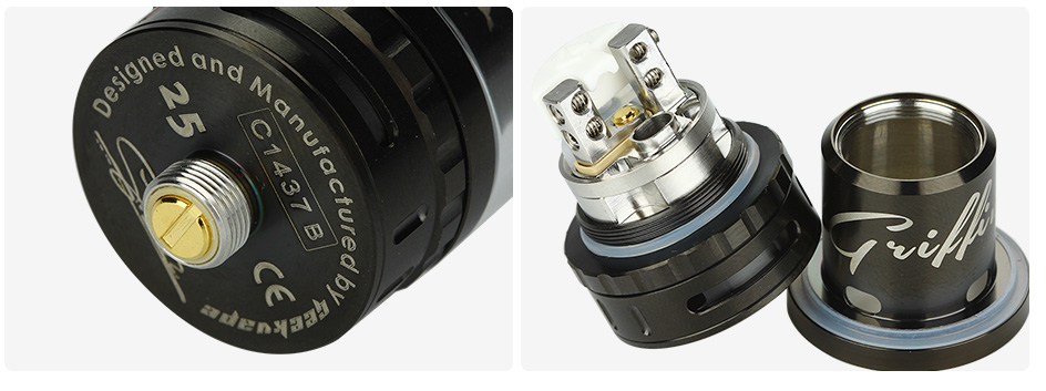 GeekVape Griffin 25 RTA Top Airflow Tank - 6ml, Black