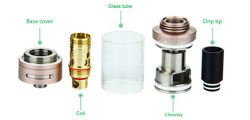 Vaporesso TARGET Ceramic cCELL Tank - 3.5ml, Purple & Rose Gold