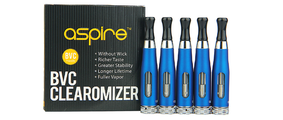 5pcs Aspire CE5 BVC Clearomizer - 1.8ml