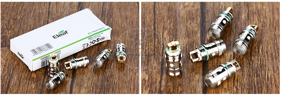 5pcs Eleaf EC-Ceramic Head untuk iJust 2 / iJust 2 Mini / Melo 3 / Melo 2 / Melo
