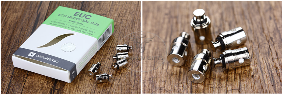 5pcs Vaporesso Traditional Mini EUC For Drizzle Vaping