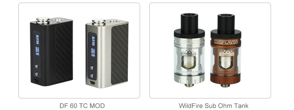 60W Digiflavor WildFire TC Kit - 1700mAh