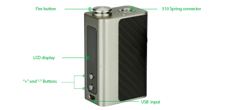 60W Digiflavor WildFire TC Kit - 1700 мА