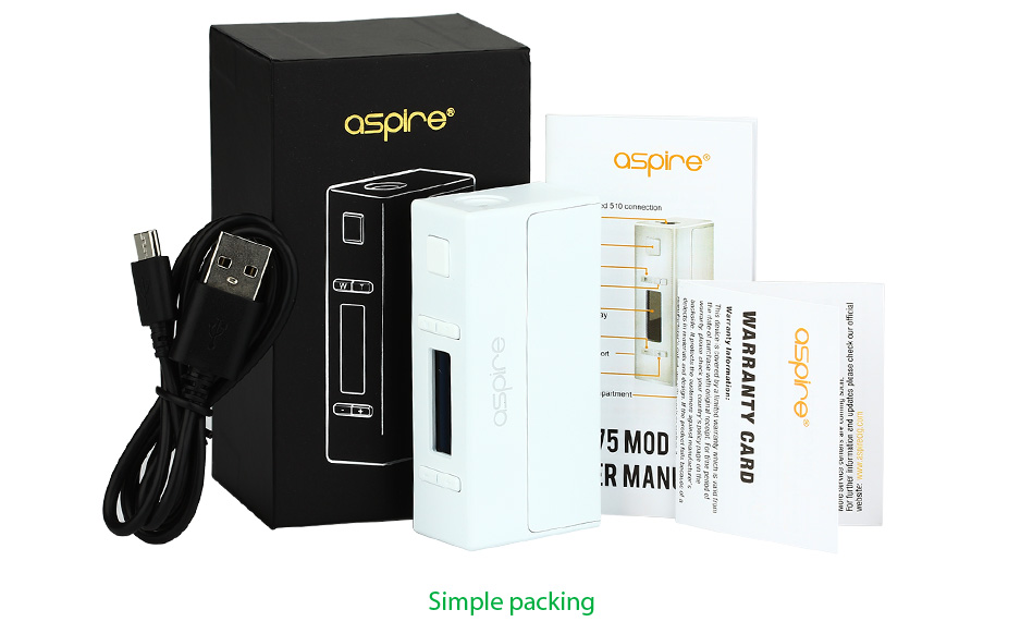 Aspire NX75 MOD W/O Battery - Zinc Alloy