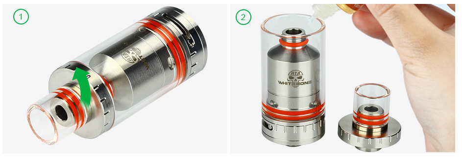 OUMIER White Bone RTA Atomizer - 2.5ml