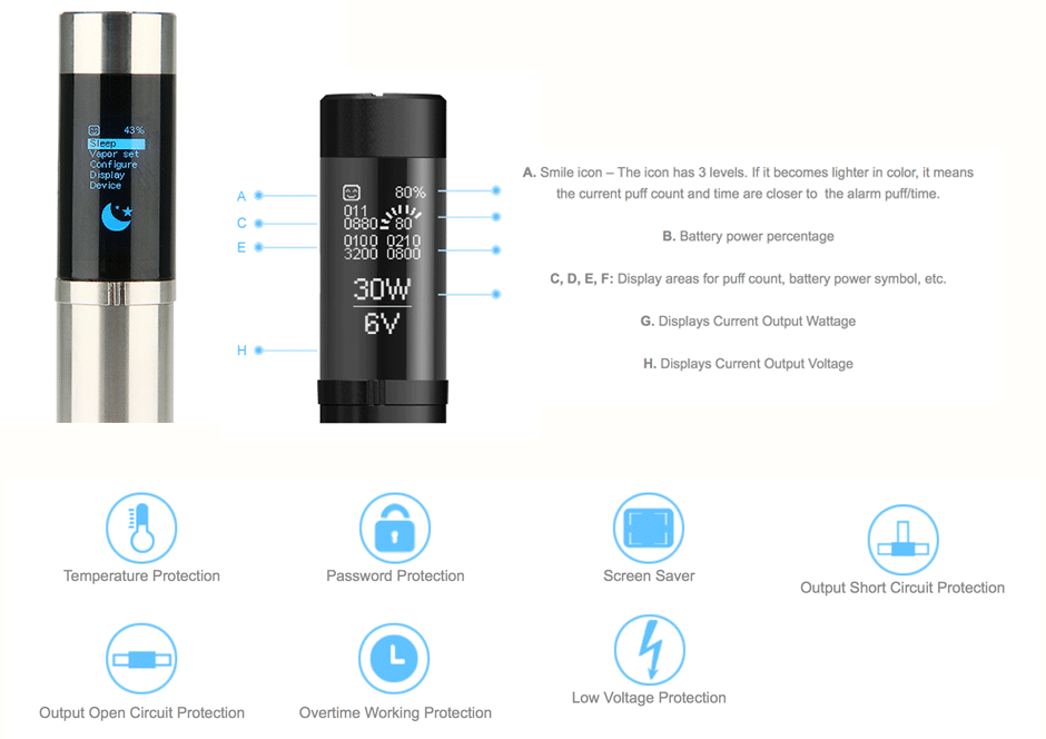 eVic Supreme features