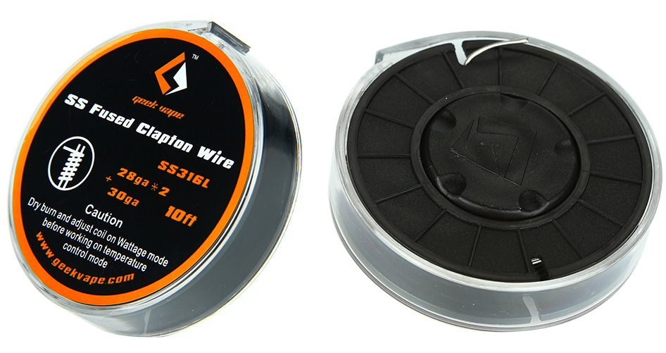 10 футов GeekVape Fused Clapton SS316 Tape Wire (28GA * 2 / Paralleled + 30GA)