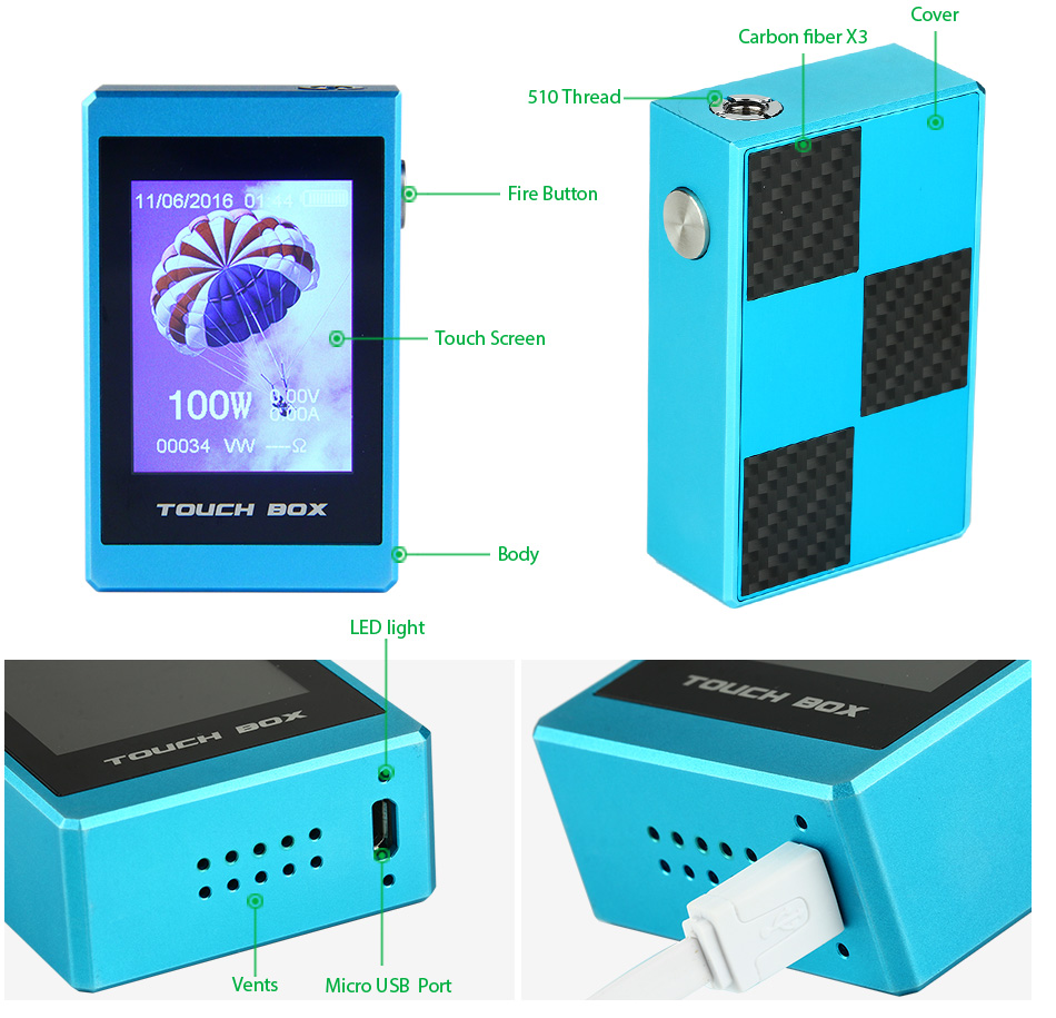 100W SMY Touch Box - 2600mAh