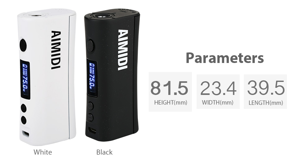 75W AIMIDI Curve V4mini TC MOD W / O Battery