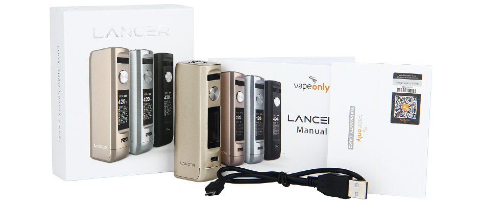 75W VapeOnly Lancer TC MOD W / O Battery