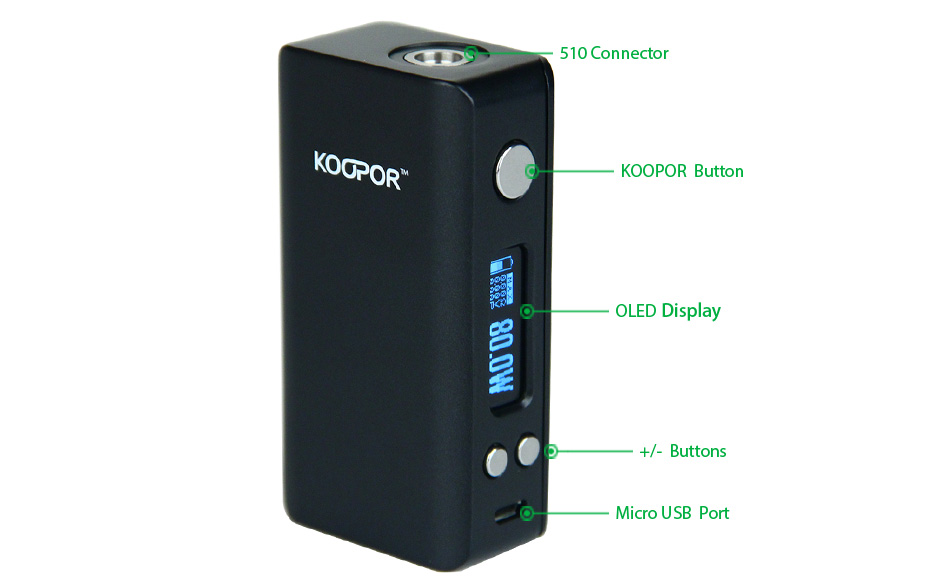 80W KOOPOR Mini V2 TC MOD W/O Battery