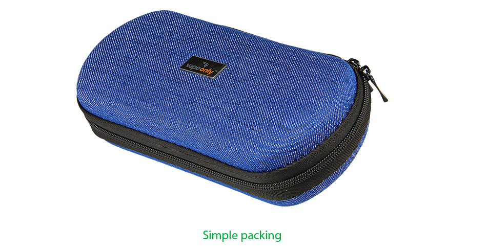 VapeOnly XL / Mega Zipped Carrying Case for e-Cigarette - Jean Cloth