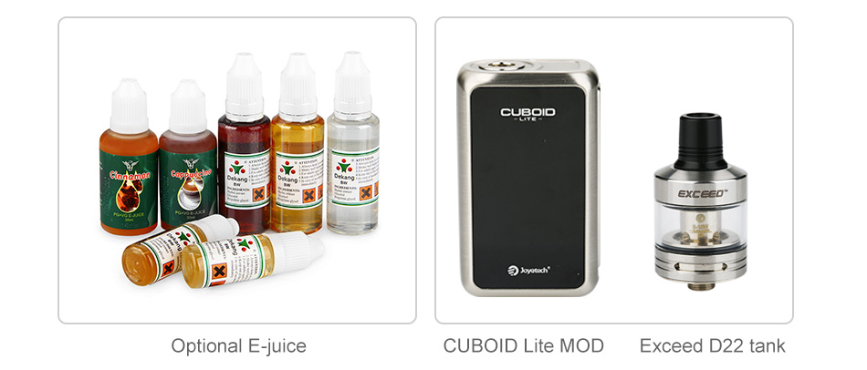 80W Joyetech CUBOID Lite with Exceed D22 TC Kit - 3000mAh
