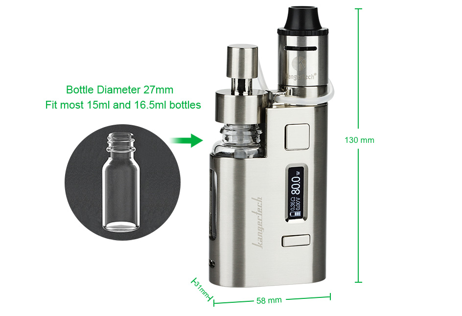 80W Kangertech DRIPEZ Starter Kit W / O Battery