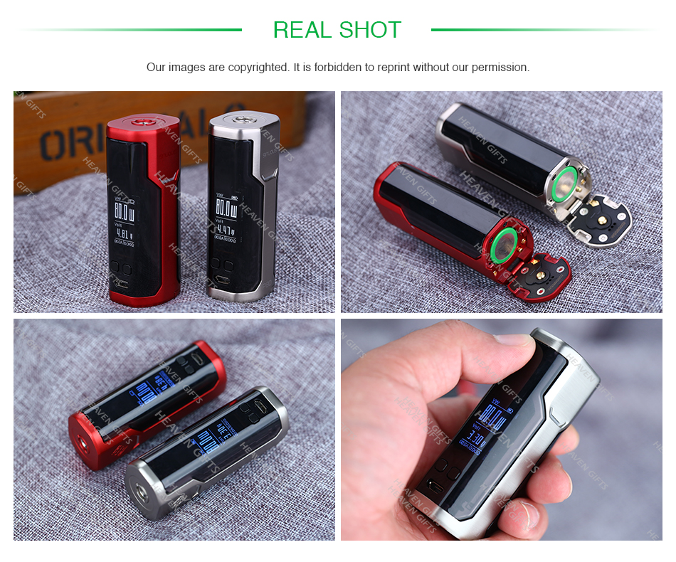 80W WISMEC SINUOUS P80 TC MOD W/O Battery
