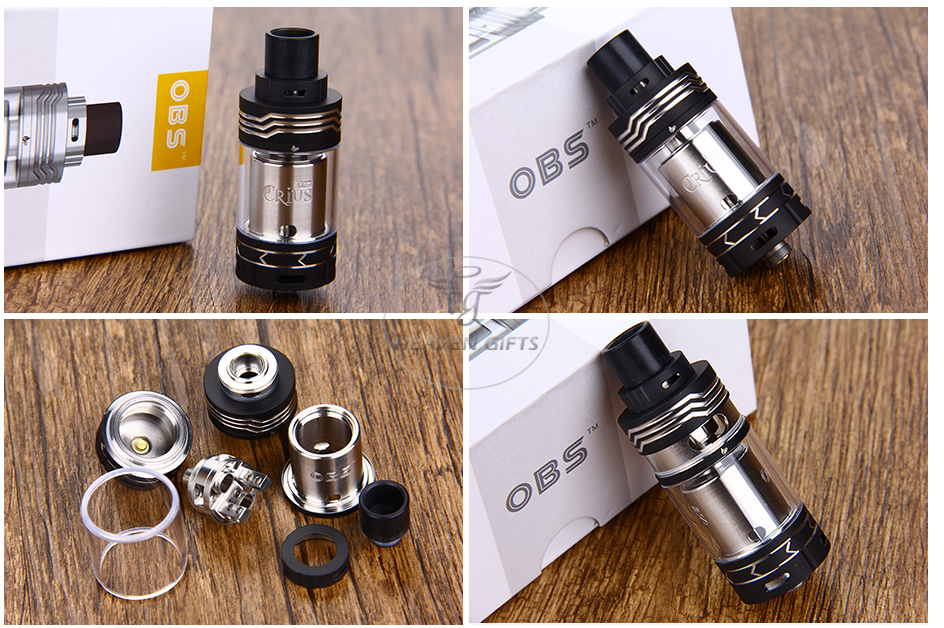 OBS Crius Plus RTA Tank - 5.8ml, Black