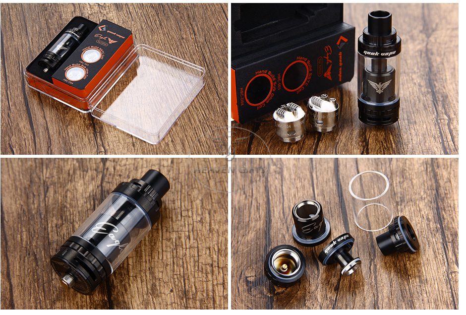 GeekVape Eagle Tank With HBC Top Airflow Version - 6ml, Black