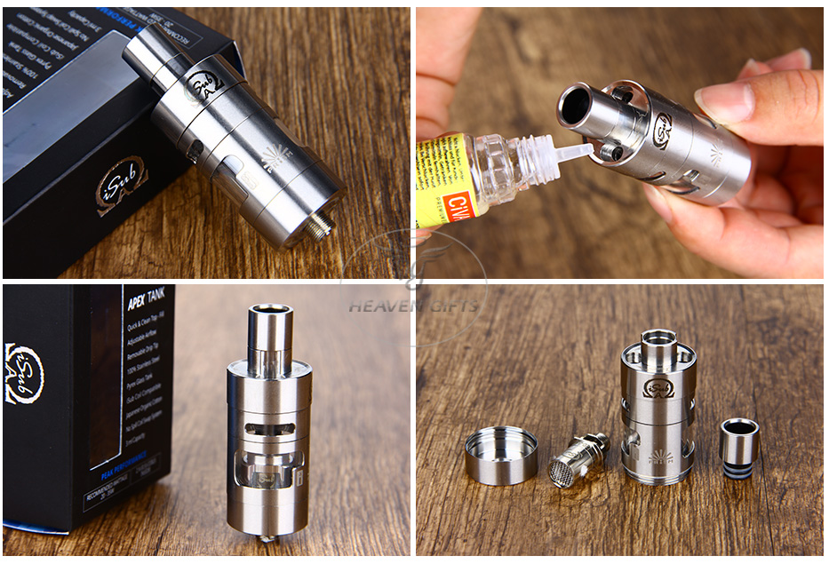 Innokin iSub APEX Top-fill Dual Adjustable Airflow Tank Kit - 3ml