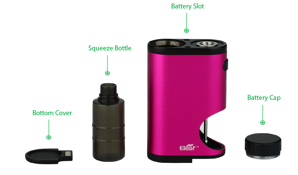 50W Eleaf Pico Squeeze MOD W/O Battery