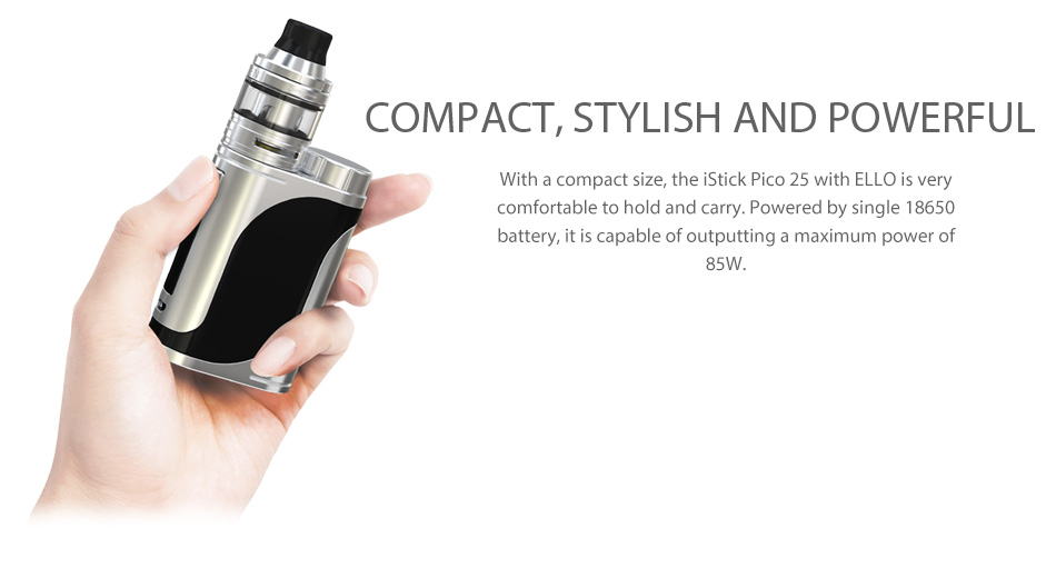 85W Eleaf iStick Pico 25 with Ello TC Kit W/O Battery