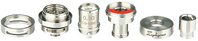 UD Zephyrus Sub-ohm Rebuidable Tank Atomizer - 5ml