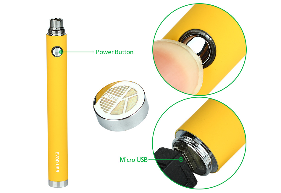 KangerTech EVOD 1000mAh manual USB battery / USB passthrough