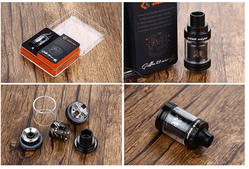 GeekVape Griffin 25 Mini RTA Tank - 3ml, Black