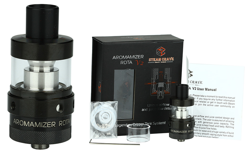Steam Crave Aromamizer RDTA V2 - 3ml, Hitam