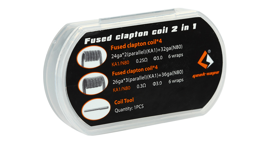 8pcs GeekVape Fused Clapton Coil 2 In 1