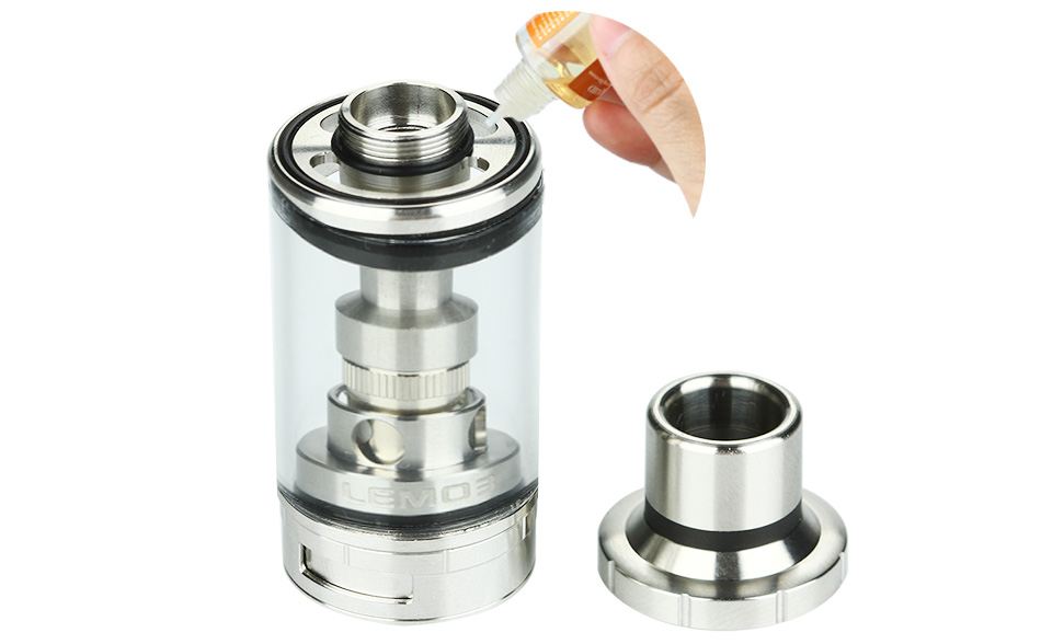 Eleaf Lemo 3 Atomizer Dengan RTA Base - 4ml, Silver