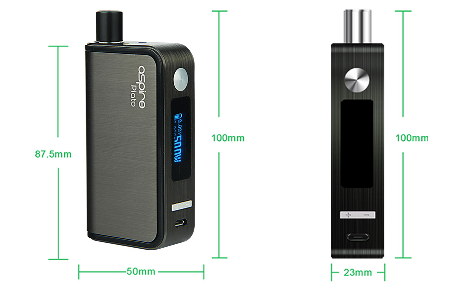 Kit TC Aspire Plato 50W - 2500mAh