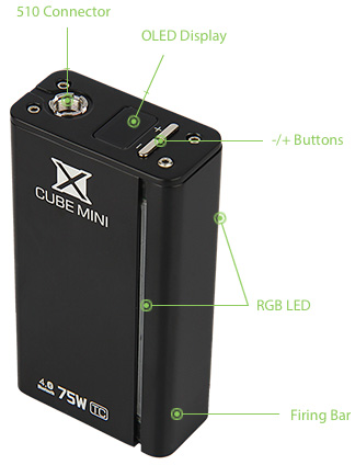 75W SMOK XCube MINI TC/VW Bluetooth MOD