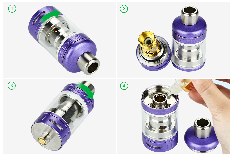Vaporesso TARGET Pro Ceramic cCELL Tank - 2.5ml, Purple & Rose Gold