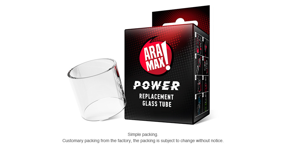 ARAMAX Power Replacement Glass Tube 5ml
