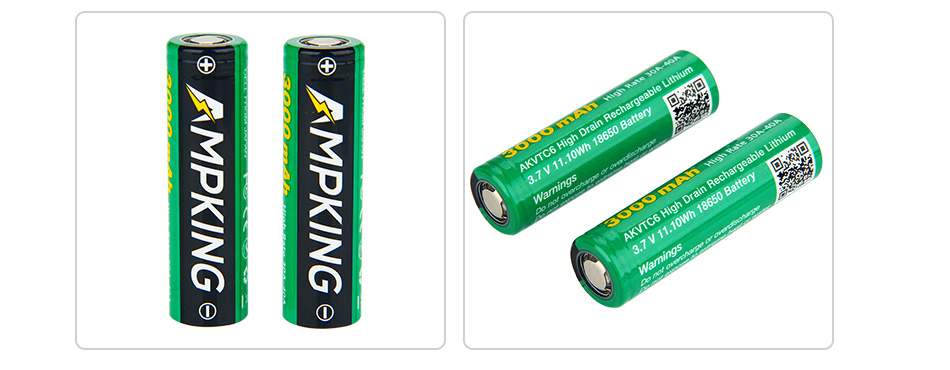 Ampking AKVTC6 18650 3000mAh High-drain Battery - 40A