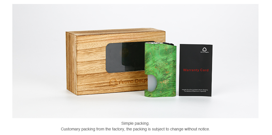 Arctic Dolphin Amber Stabilized Wood Squonk MOD