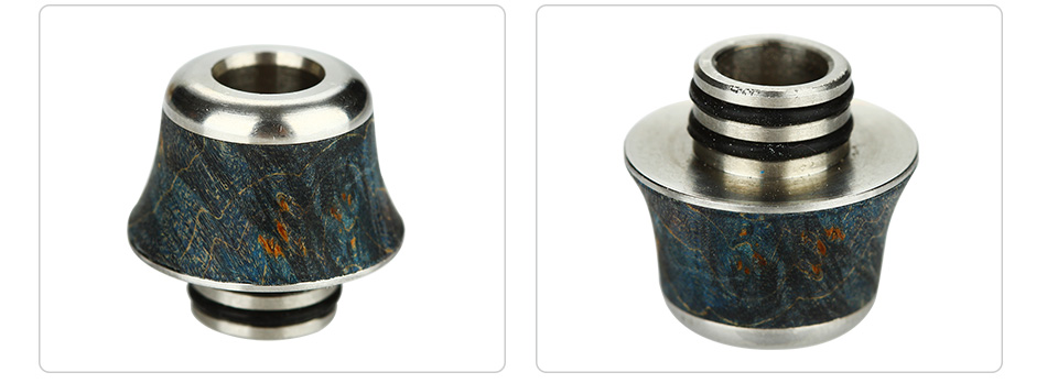 Arctic Dolphin Stabilized Wood Drip Tip 510 A12