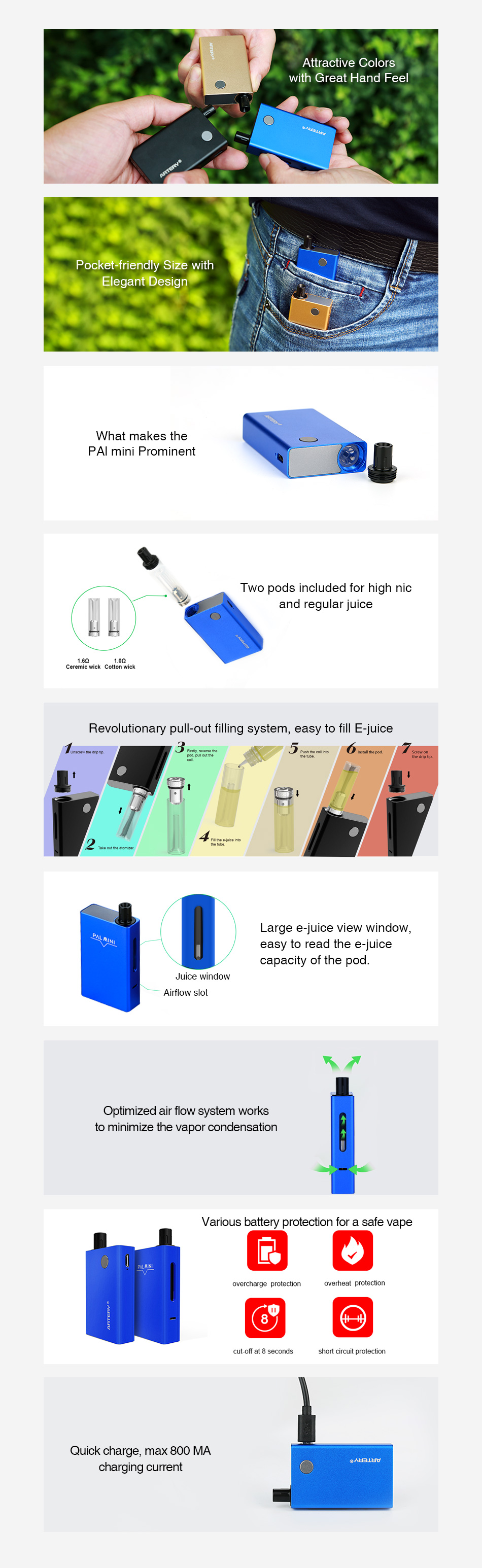 Artery PAL Mini Starter Kit 1000mAh