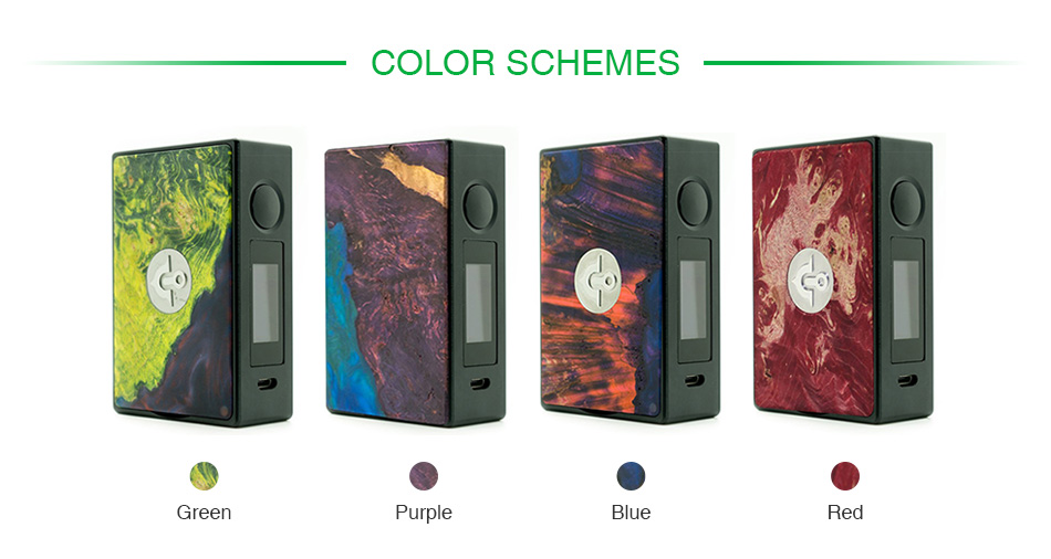 Asmodus EOS 180W Stabilized Wood Touch Screen TC Box MOD