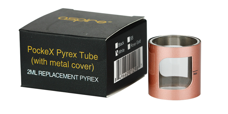 Aspire PockeX 2ml Pyrex Tube Dengan Metal Cover