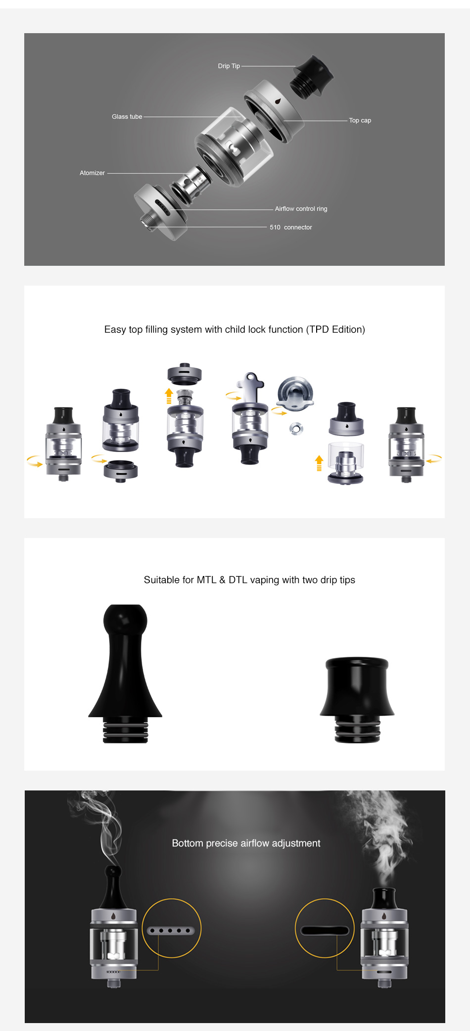 Aspire Tigon Subohm Tank 2ml/3.5ml